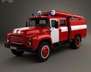 3D model of ZIL 130 Fire Truck 1970