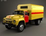 3D model of ZIL 130 Service Truck 1964