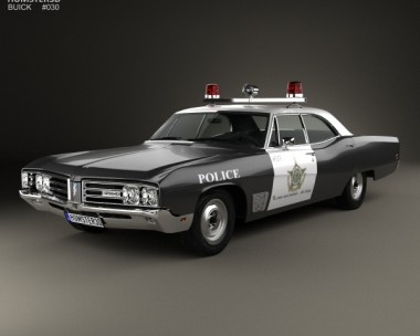 3D model of Buick Wildcat Police 1968