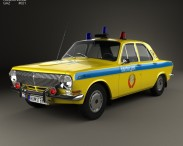 3D model of GAZ 24 Volga Militia 1967