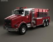 3D model of Kenworth T800 Fire Truck 3-axle 2005