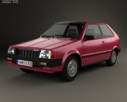 3D model of Nissan Micra 3-door 1982