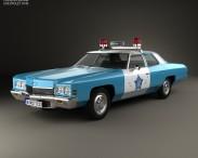 3D model of Chevrolet Impala Police 1972