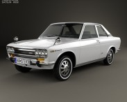 3D model of Datsun Bluebird 1600 SSS Coupe 1968