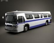 3D model of GM New Look TGH-5303 Bus 1965