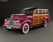 3D model of Packard 110 Station Wagon (1900-1483) 1941