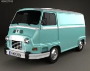 3D model of Renault Estafette Panel Van 1976