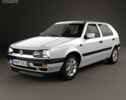 3D model of Volkswagen Golf 1993