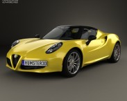3D model of Alfa Romeo 4C Spider 2015