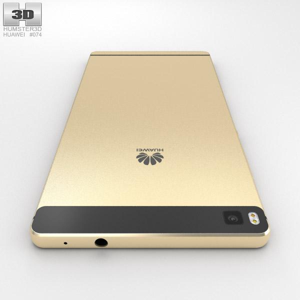 Huawei p8 prestige gold 3d model humster3d