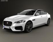 3D model of Jaguar XF S 2016