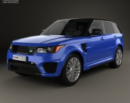 3D model of Land Rover Range Rover Sport SVR 2015