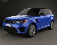 3D model of Land Rover Range Rover Sport SVR 2015