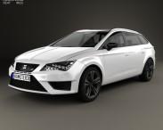 3D model of Seat Leon ST Cupra 280 2015