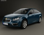 3D model of Chevrolet Cruze sedan 2015