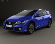 3D model of Honda Civic tourer 2015