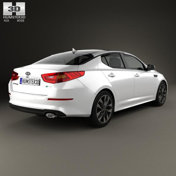 kia optima 2015 3d model humster3d