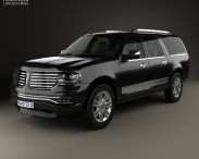 3D model of Lincoln Navigator L 2014