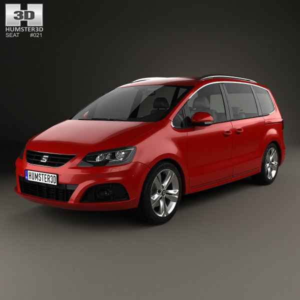 3D model of Seat Alhambra 2014