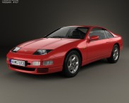3D model of Nissan 300ZX (Z32) 2 seater 1989