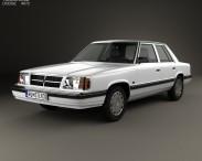 3D model of Dodge Aries K sedan 1988