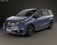 3D model of Honda Odyssey Absolute 2013