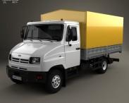 3D model of ZIL Bychok 5301 AO Truck 1996