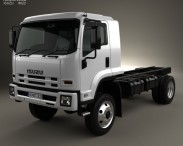 3D model of Isuzu FTS 800 Single Cab Chassis Truck 2014