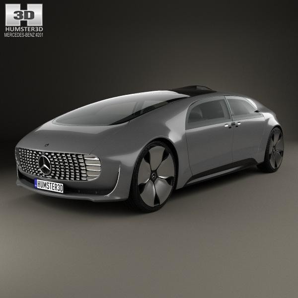 Mercedes benz f 015 2015 3d model humster3d for Mercedes benz f 015 price