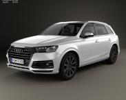 3D model of Audi Q7 2016