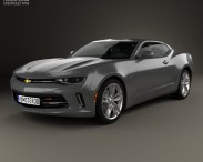 3D model of Chevrolet Camaro RS coupe 2016
