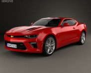 3D model of Chevrolet Camaro SS coupe 2016