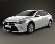 3D model of Toyota Camry XLE 2015