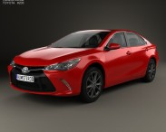 3D model of Toyota Camry XSE 2015