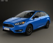 3D model of Ford Focus sedan 2014