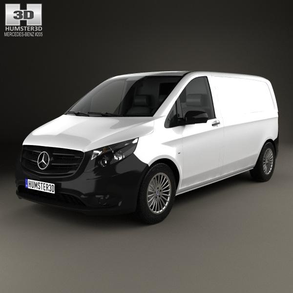 3D model of Mercedes-Benz Vito (W447) Panel Van L1 2014