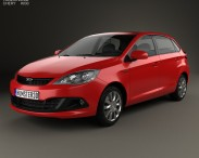 3D model of Chery A13 (Fulwin 2) Mk2 hatchback 2012