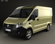 3D model of GAZ Sobol Next Panel Van 2013