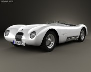 3D model of Jaguar C-Type 1951