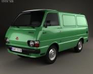 3D model of Toyota Hiace Panel Van 1977
