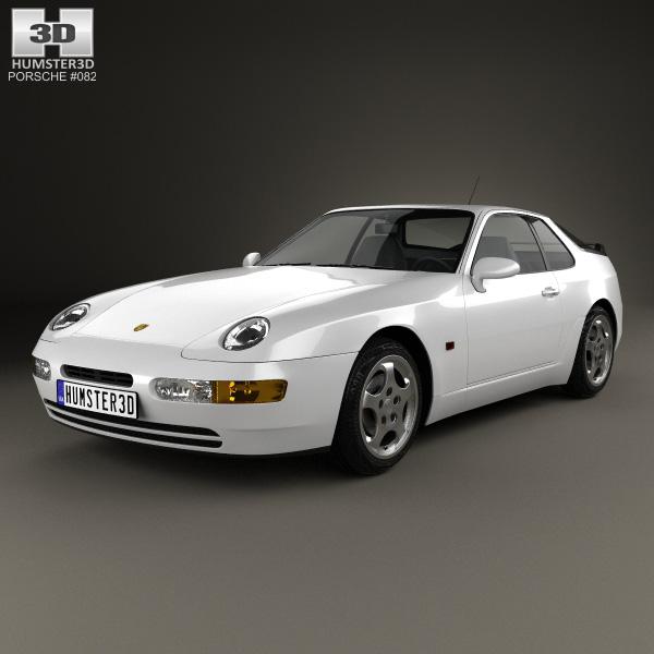 3D model of Porsche 968 1991
