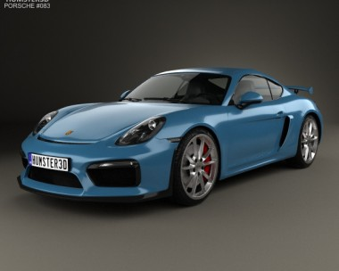 3D model of Porsche Cayman GT4 2014