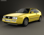 3D model of Volkswagen Corrado G60 1988