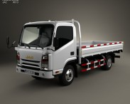 3D model of JAC N721 Flatbed Truck 2010