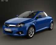 3D model of Opel Tigra TwinTop 2004