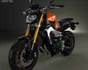 3D model of Yamaha MT-09 2014
