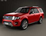3D model of Ford Expedition Platinum 2015