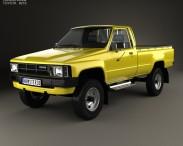 3D model of Toyota Hilux DX Long Body 1983