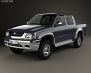 3D model of Toyota Hilux Double Cab 2001