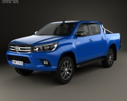 3D model of Toyota Hilux Double Cab SR5 2015